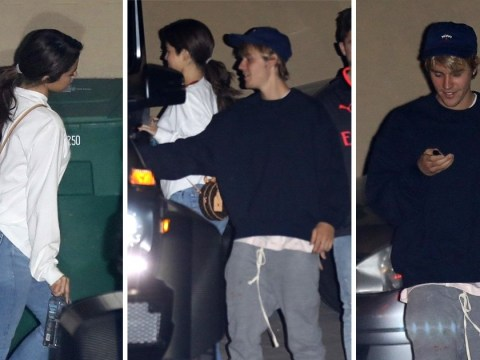 Justin Bieber and Selena Gomez are all smiles as they are spotted together amid break-up rumours