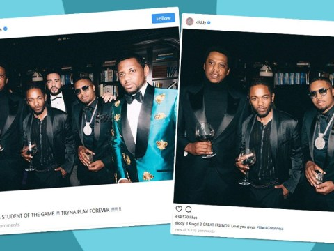 P Diddy is ice cold as he Photoshops French Montana from 'friends' snap