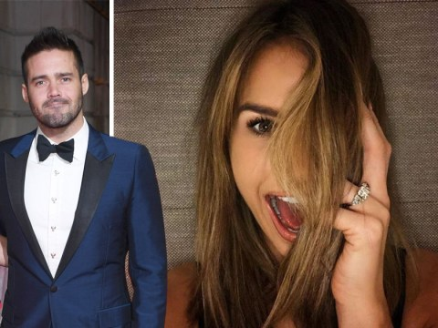 Vogue Williams flashes £150,000 engagement ring as Spencer Matthews pops the question