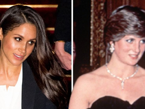 Meghan Markle makes black tie debut at the same venue Diana did 37 years earlier – the striking differences between the two