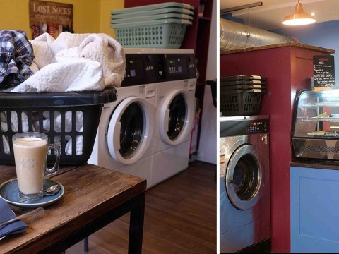 Mum opens launderette with its own cafe