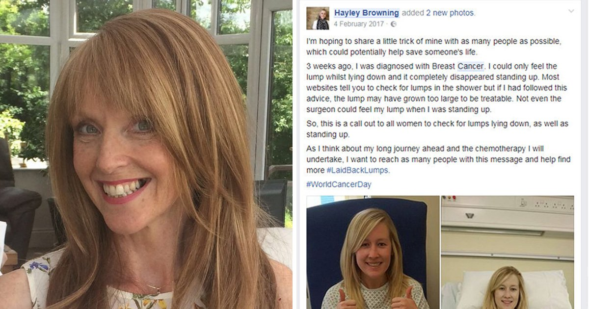Woman discovered lump after cancer survivor's life-saving tip was posted on Facebook