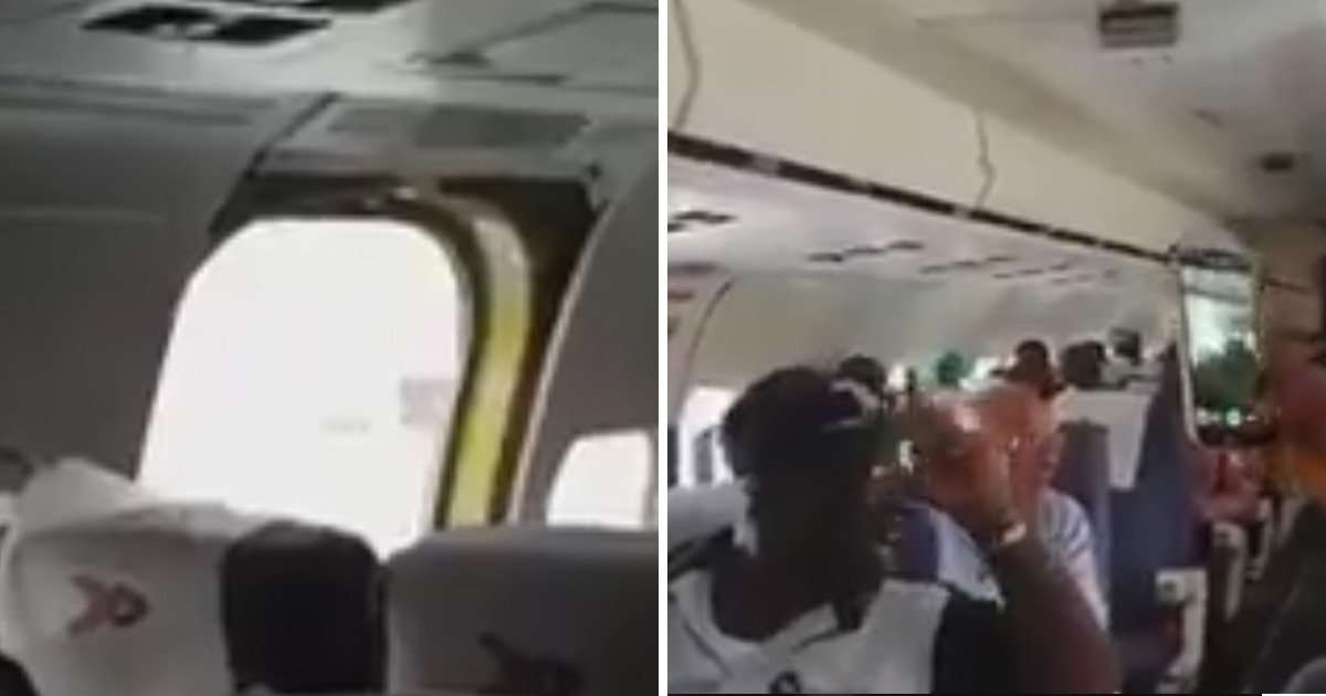 Plane door falls off after landing following 'poof-like explosion'