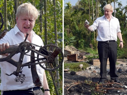 Boris Johnson describes 'sheer devastation' of burned out Rohingya villages