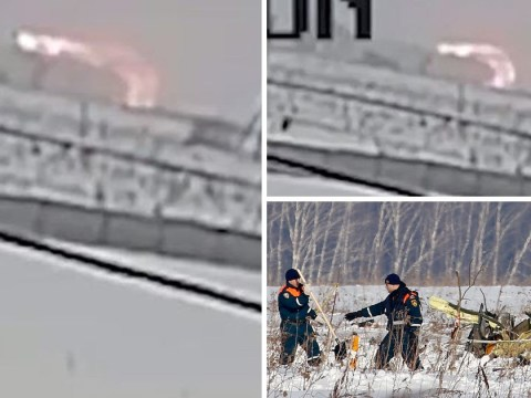 CCTV shows moment Russian plane crashed killing all 71 people on board