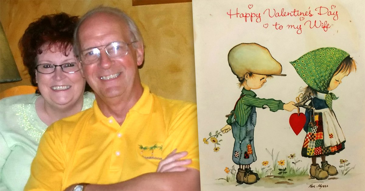 77-year-old man has been sending his wife the same Valentine's card for 39 years