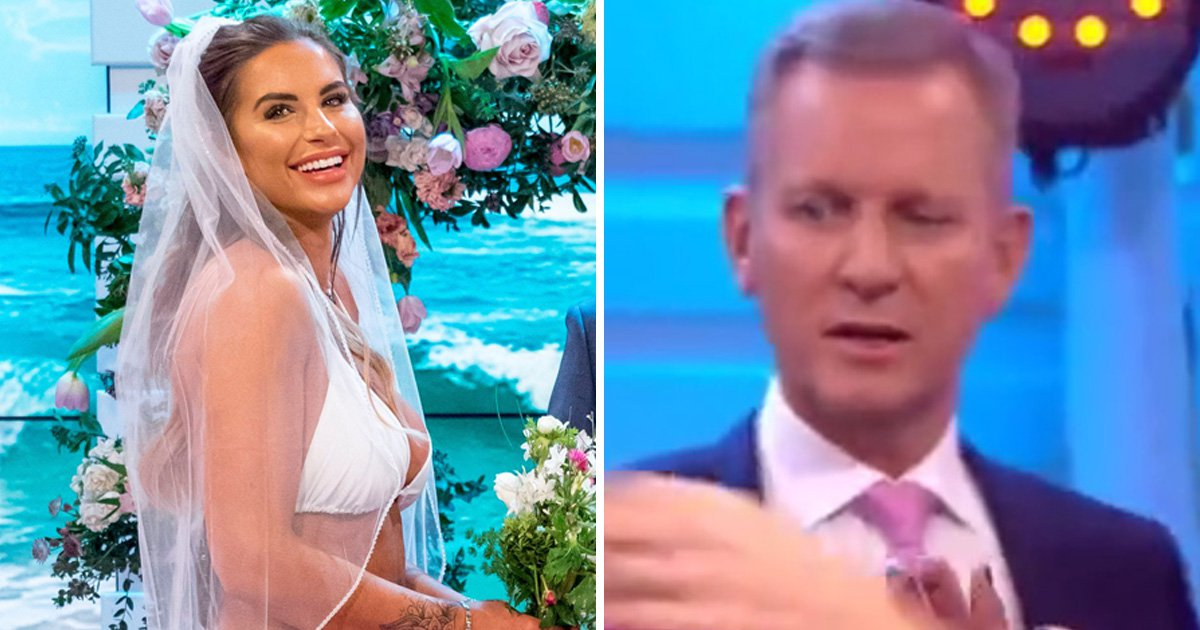 GMB viewers catch Jeremy Kyle staring at Jess Shears' bridal bikini top: 'It was disturbing'