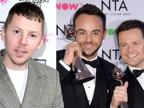 Professor Green is coming for Ant and Dec's telly crown