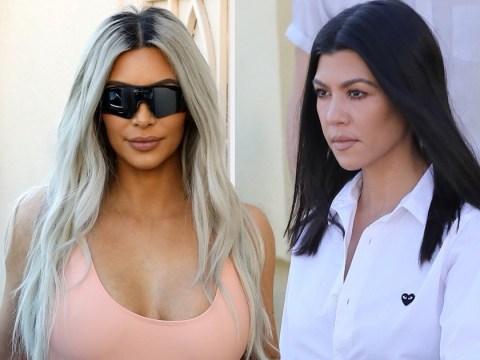Kim Kardashian spells 'gluten' wrong on Kourtney's birthday card, despite it being written on the front