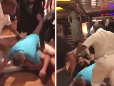 Mass brawl erupts on cruise ship after 'man steps on passenger's flip flop'
