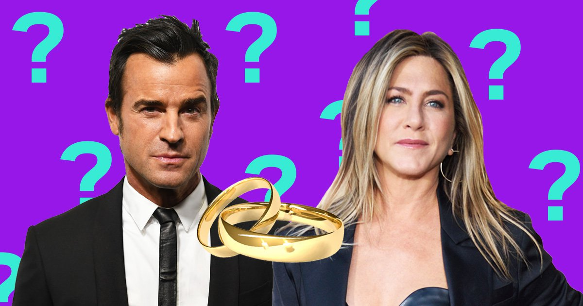 There's no evidence Jennifer Aniston and Justin Theroux were ever married
