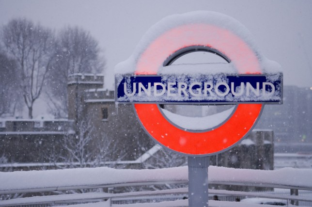 Mandatory Credit: Photo by Steve Meddle/REX/Shutterstock (844008ab) Tower Hill underground sign, City, London, England, Britain Snow in London, Britain - 02 Feb 2009 Heavy snow brought Britain to a standstill today (2nd February) in the worst snowfall in 18 years. Airports were closed, buses and trains cancelled and motorists advised not to take their vehicles on to the road. Hundreds of thousands of schoolchildren stayed at home after their schools were cancelled and many commuters also had the day off after finding themselves unable to get into work.
