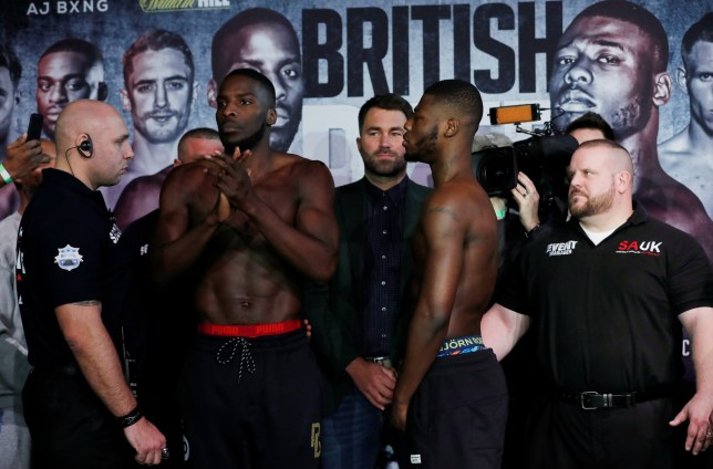 Lawrence Okolie and Isaac Chamberlain face off