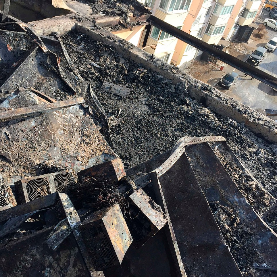 Suspected bitcoin mining causes apartment fire