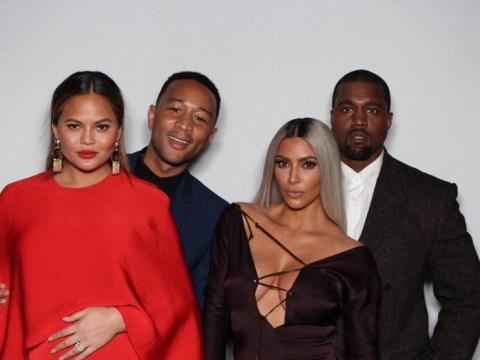 Chrissy Teigen parties with John Legend, Kim Kardashian and Kanye West For Ellen DeGeneres' birthday