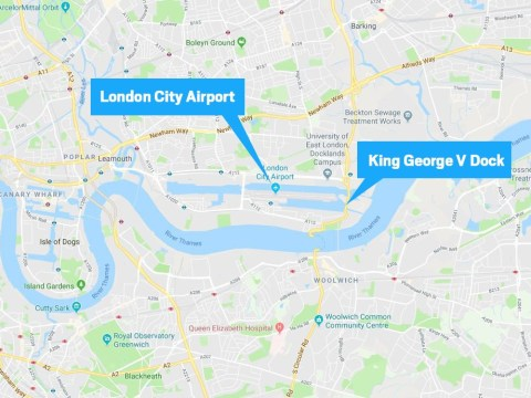 Where is London City Airport and where was the bomb found?