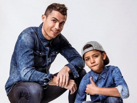 Cristiano Ronaldo shows mini-me son how to rock double denim in his new CR7 campaign