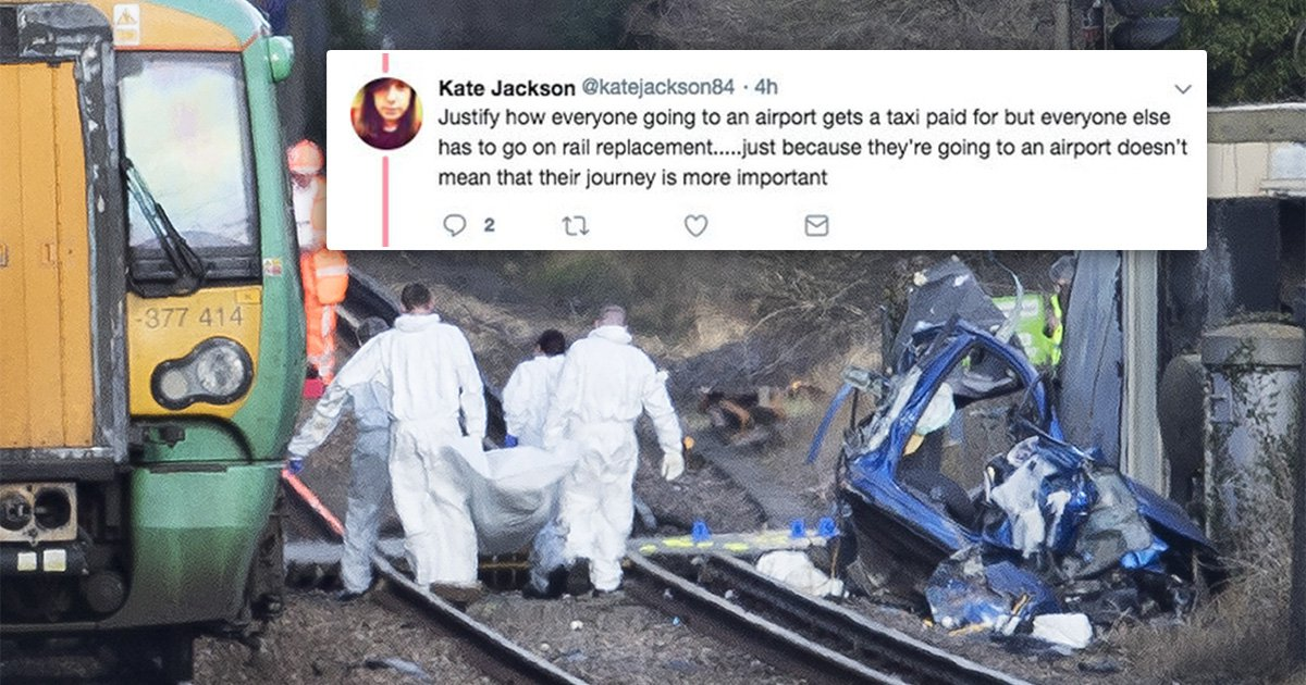 Delayed commuter slammed for complaining after boy and granddad killed when car hit by train at level crossing