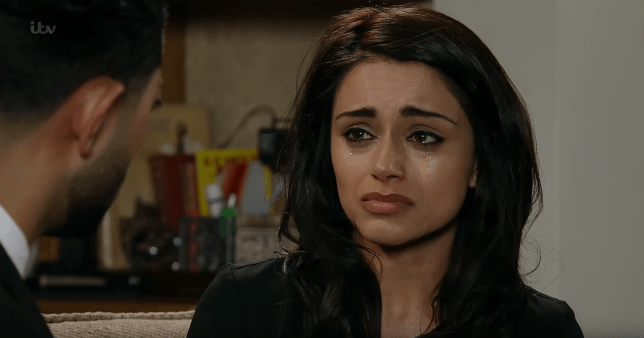 Rana is devastated when Zeedan considers taking money from her parents in Coronation Street