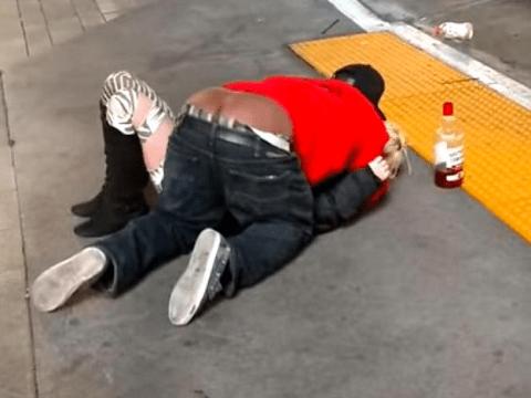 Horrifying moment man sexually assaults intoxicated woman on Las Vegas street