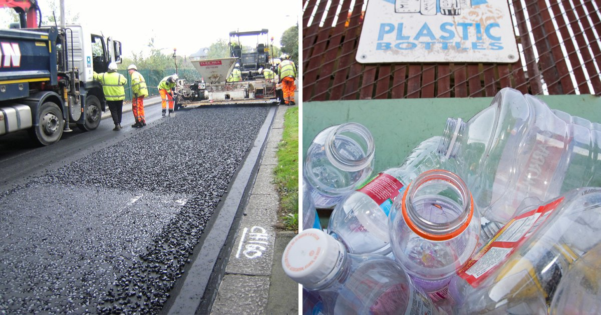 Councils tackle plastic waste by using bottles to tarmac its roads