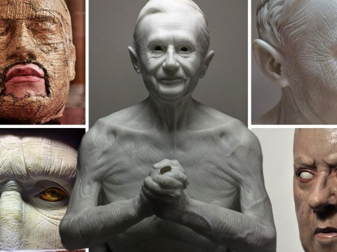 Don't be alarmed, these creepy people are just extremely lifelike sculptures