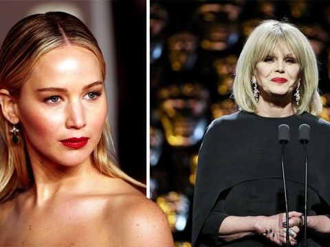 Jennifer Lawrence says Joanne Lumley can 'punch me in the face' after Bafta backlash