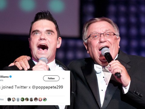 Robbie Williams introduces his Twitter followers to his dad Pete Conway