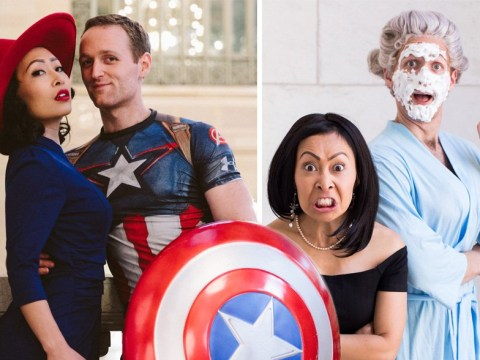 Couple dress up as their favourite movie characters for brilliant engagement photo series