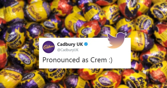 Cadbury makes bold claim about Creme Egg pronunciation