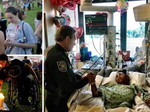 Hero teenager shot five times while saving classmates during Florida massacre
