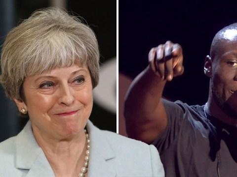 Theresa May hits back at Stormzy over Grenfell Tower rap at Brits
