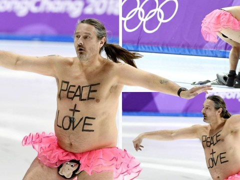 British streaker wearing a monkey penis pouch is the real hero of the Olympics