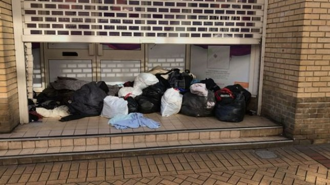 A pile of bags and belongings are all that is left after a homeless man who slept in the doorway of the former Argos store in Chelmsford died. The tragic events yesterday (February 23), saw police and paramedics rush to the building on Springfield Road shortly after 11am after a man was found not breathing. Despite best efforts from paramedics, the man who is believed to be homeless man Rob O'Conner, died at the scene. His death was initially being treated by police as unexplained, but a spokeswoman for Essex Police said on Saturday morning (February 24) that his death is being treated as non-suspicious.