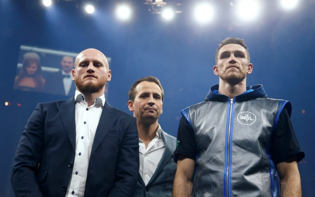 Callum Smith alongside fellow finalist George Groves after winning his fight