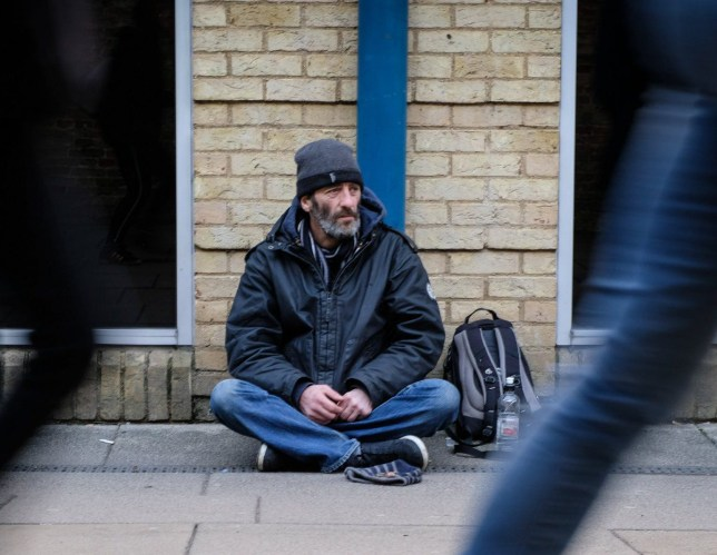 "Daniel Bennett ,48, has been homeless for 6 years and currently lives in a tent on the ege of Ely City. February 25 2018. See Masons story MNELY: Police officers have claimed every single beggar who appears to be homeless in Britain's smallest city are frauds making ""substantial amounts of money"". The force have clearly stated that there are no rough sleepers and are concerned that the street beggars are misleading people. Members of the public are urged not give the 'homeless' beggars in the city of Ely, Cambridgeshire money - but to only give food or warm drinks."