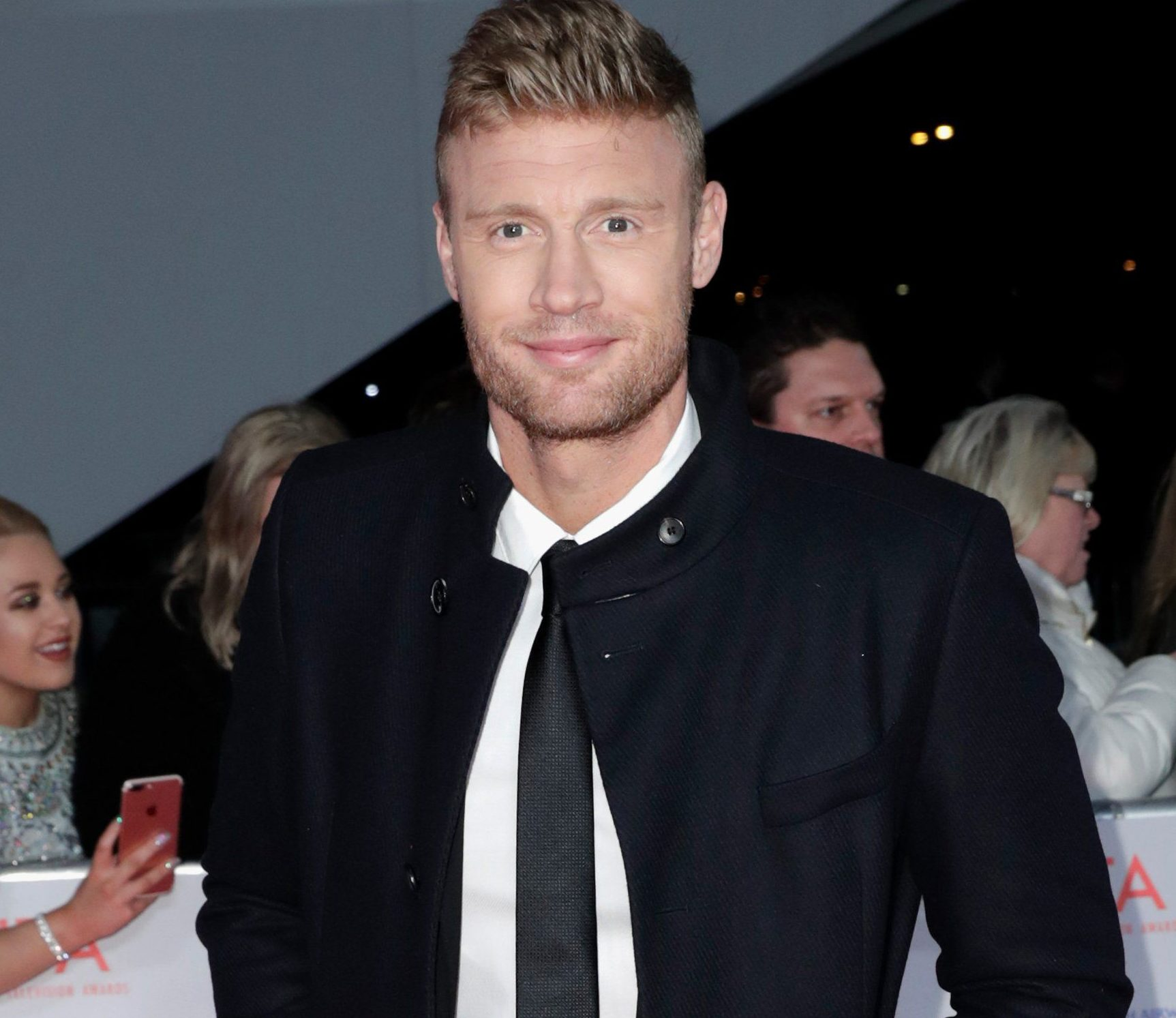 LONDON, ENGLAND - JANUARY 23: Andrew Flintoff attends the National Television Awards 2018 at the O2 Arena on January 23, 2018 in London, England. (Photo by John Phillips/Getty Images)