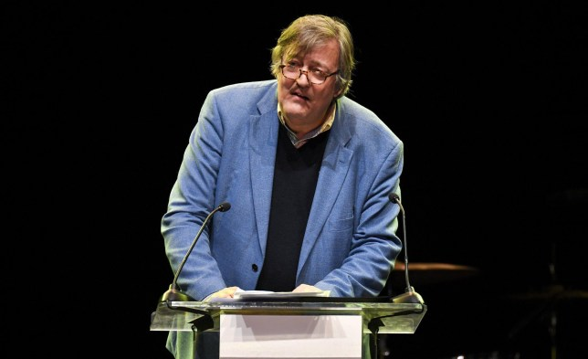 Mandatory Credit: Photo by Rob Latour/WWD/REX/Shutterstock (9438993c) Stephen Fry Letters Live event, Show, Los Angeles, USA - 26 Feb 2018