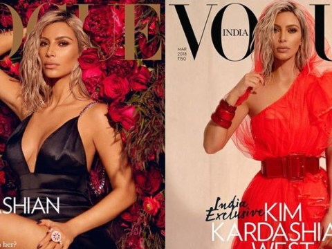 People aren't pleased with Kim Kardashian being on the cover of Vogue India