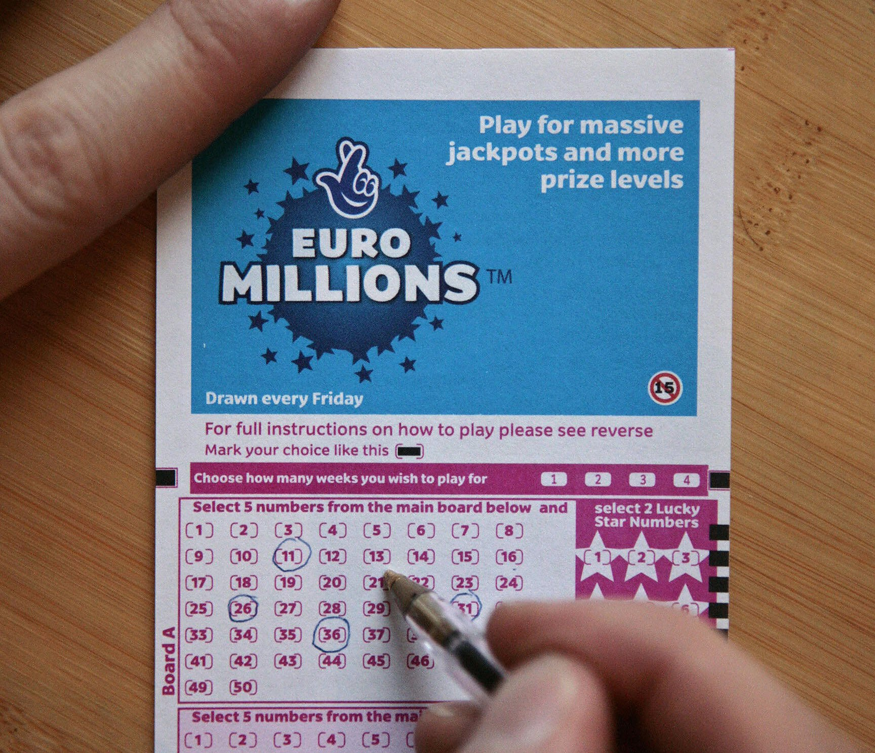 2040 Lottery - £141,000,000
