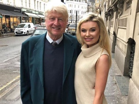 Stanley Johnson 'films scenes' for Made In Chelsea with I'm A Celebrity BFF Georgia Toffolo