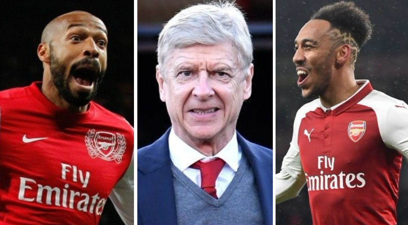 Arsene Wenger highlights the major difference between Pierre-Emerick Aubameyang and Thierry Henry