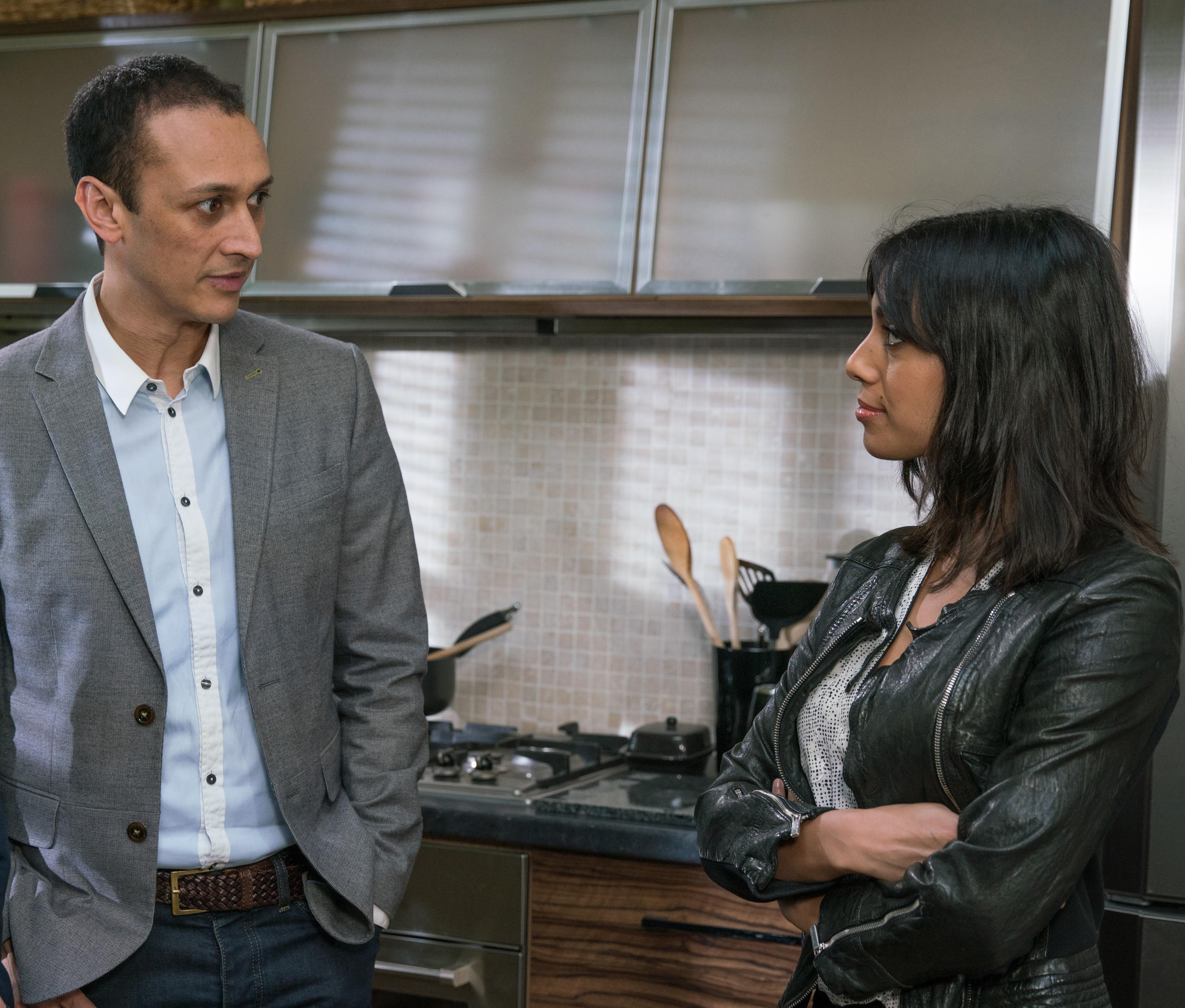 Jai and Priya argue in Emmerdale