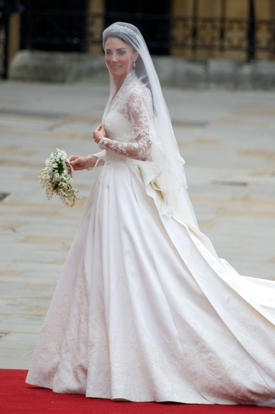 8d9168ad99a A closer look at the Duchess Of Cambridge s wedding dress. Catherine  Middleton ...