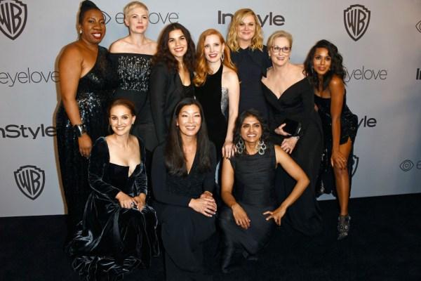 Celebrities wear black at Golden globes 2018