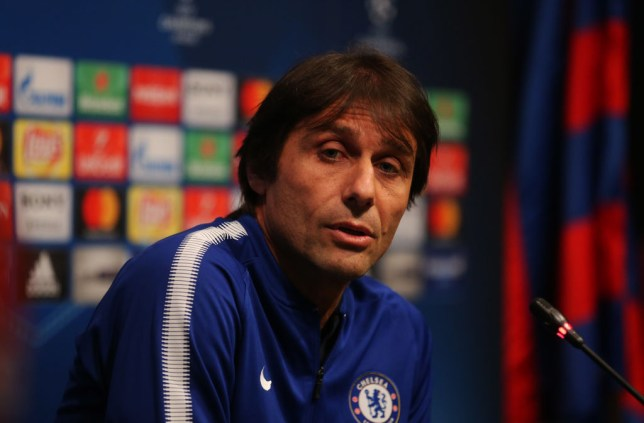 Antonio Conte during the press conference prior to the UEFA Champions League match between FC Barcelona and Chelsea, on 13th March 2018 in Barcelona, Spain. -- (Photo by Urbanandsport/NurPhoto via Getty Images)