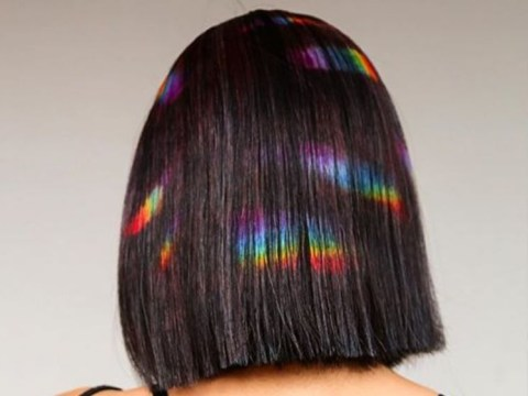 Rainbow prism hair is the look to try if you're nervous about doing a full on dye job