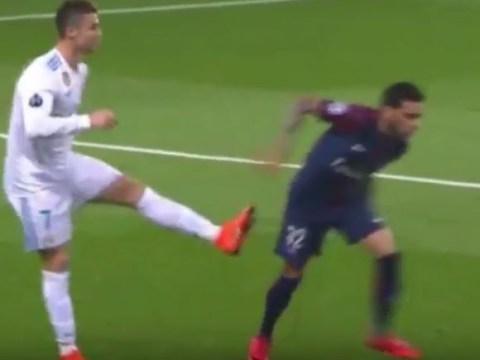 Real Madrid star Cristiano Ronaldo escapes red card after kicking out at Dani Alves