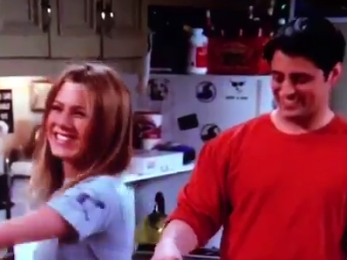 Friends fans only just spotted Matt LeBlanc mouthing Jennifer Aniston's lines in this blooper
