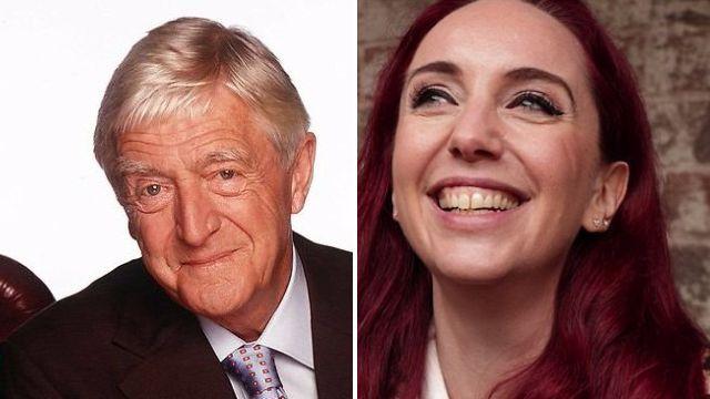 Michael Parkinson and Coronation Street boss Kate Oates